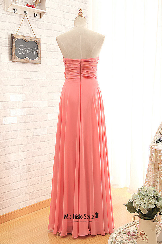 cheap long bridesmaid dress
