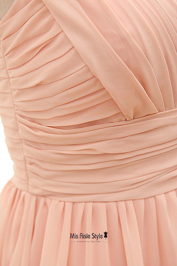 blush formal party dress