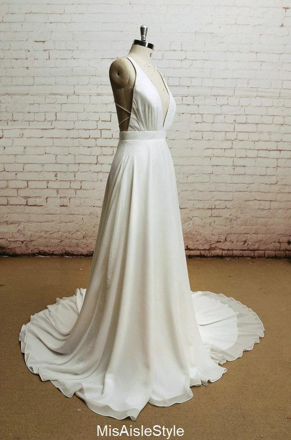 sexy bohemain wedding dress