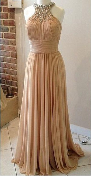 halter neckline evening dress