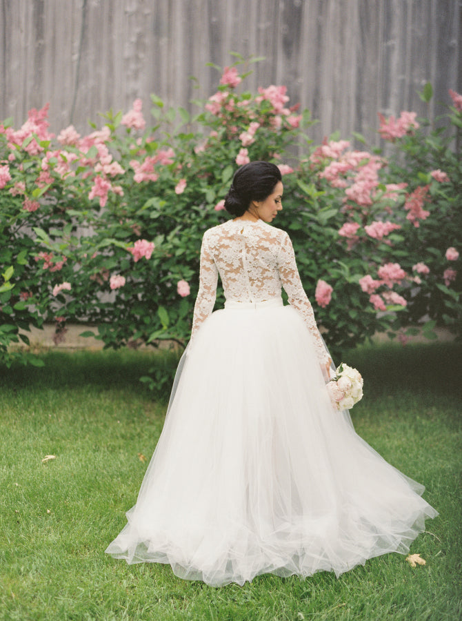 two pieces wedding dress