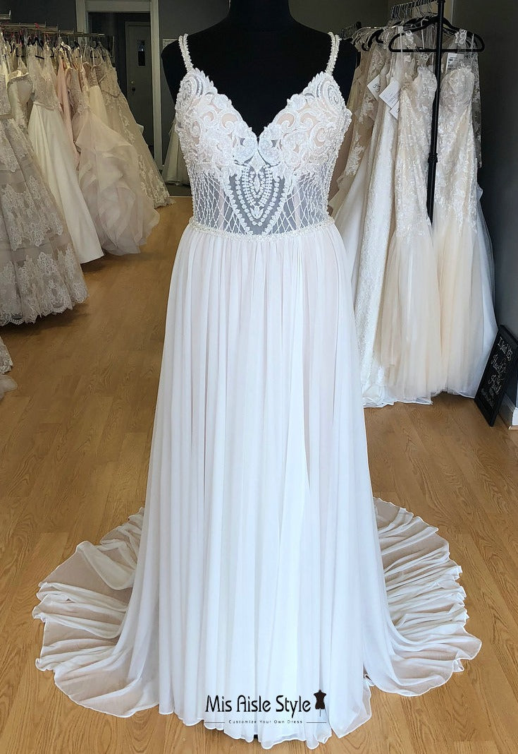 sexy sheer wedding dress