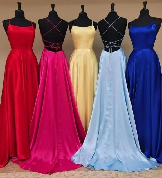 lace up back cheap long prom dress