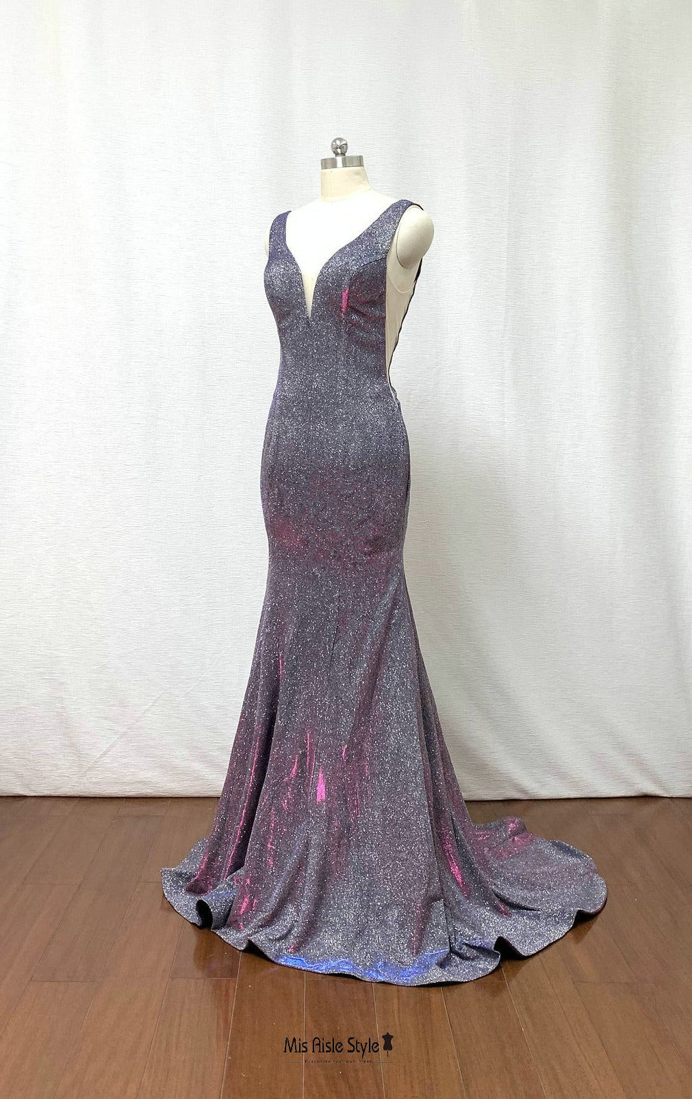 mermaid sparkle evening dress