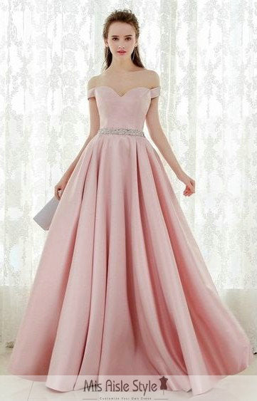 ball gown pink prom dress