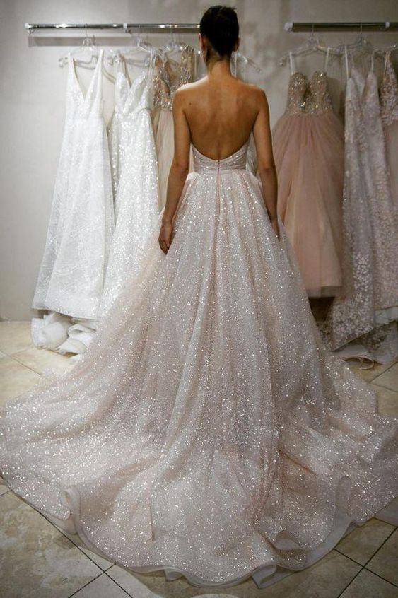 sparkle wedding dress