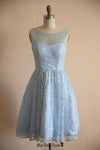 light blue wedding party dress