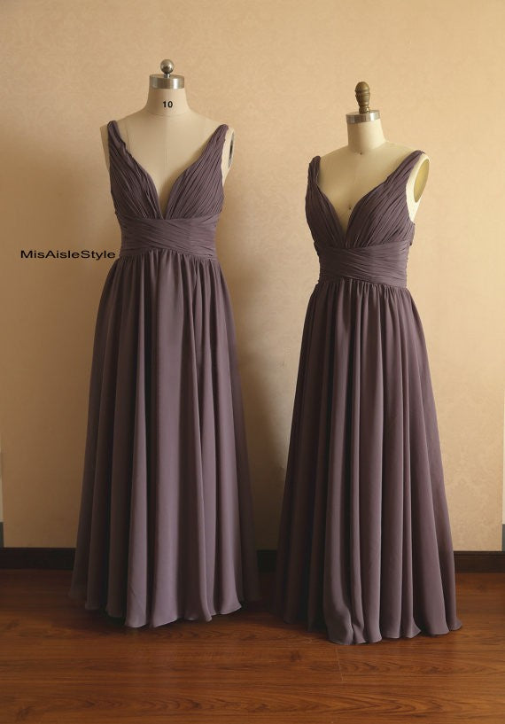 brown bridesmaid dress