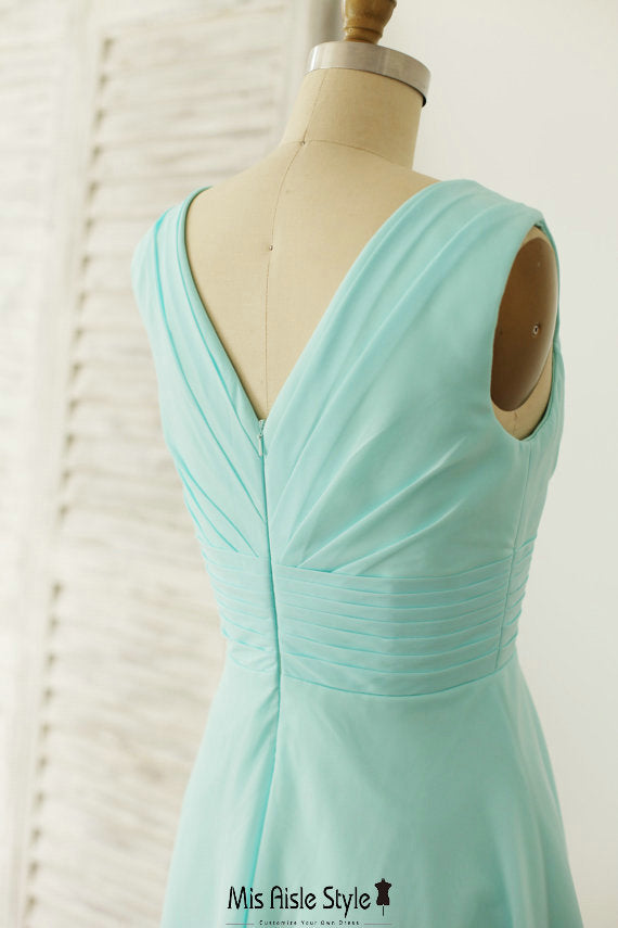 ice blue bridesmaid dress