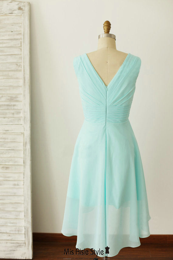 ice blue wedding party dress