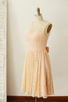 orange vintage wedding guest dress