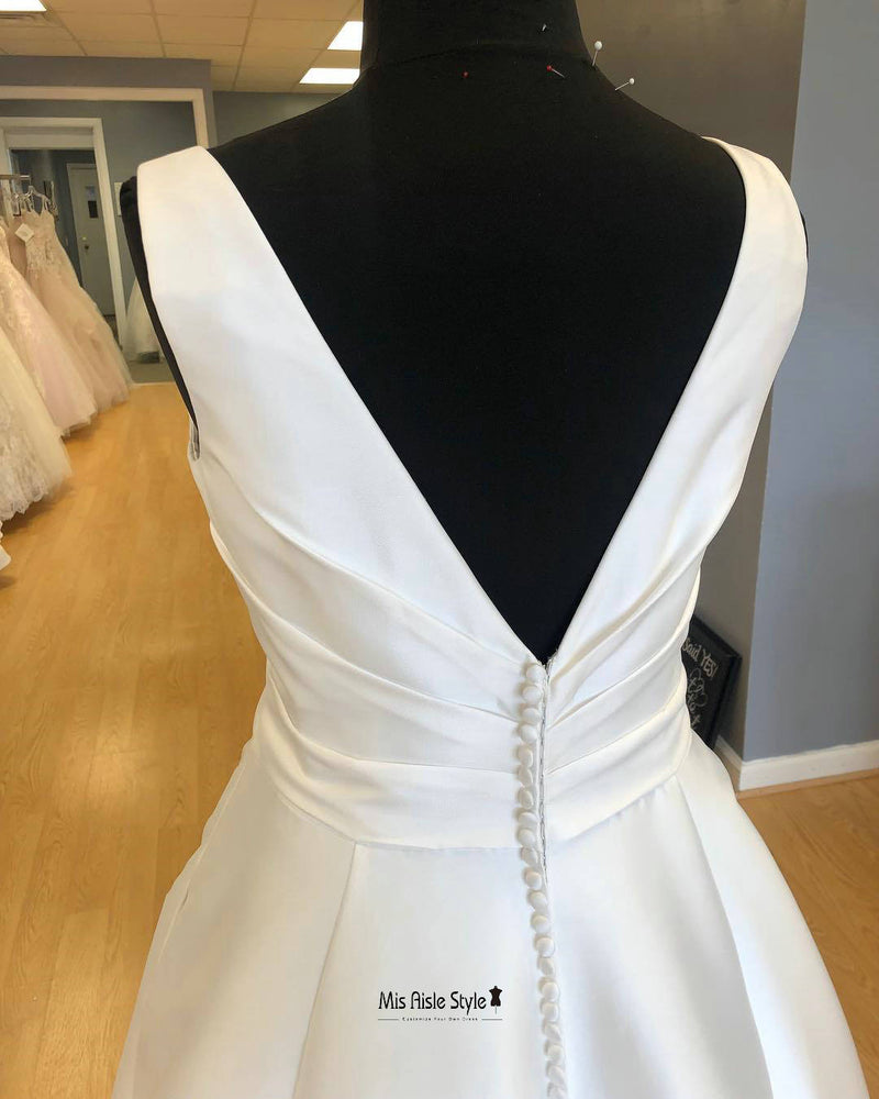 v-back bridal dress