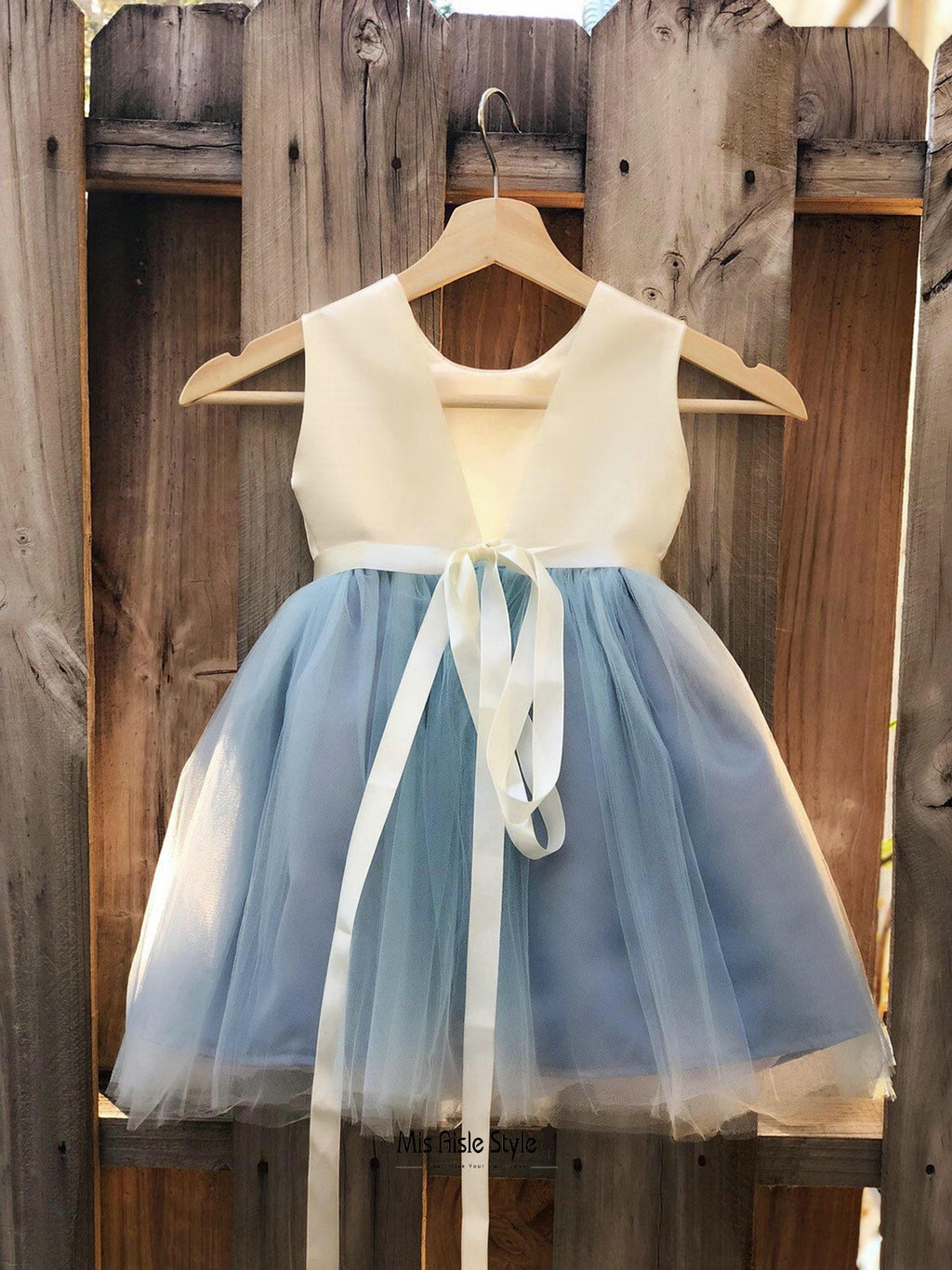 v-back flower girl dress