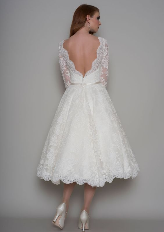 low-back wedding dress