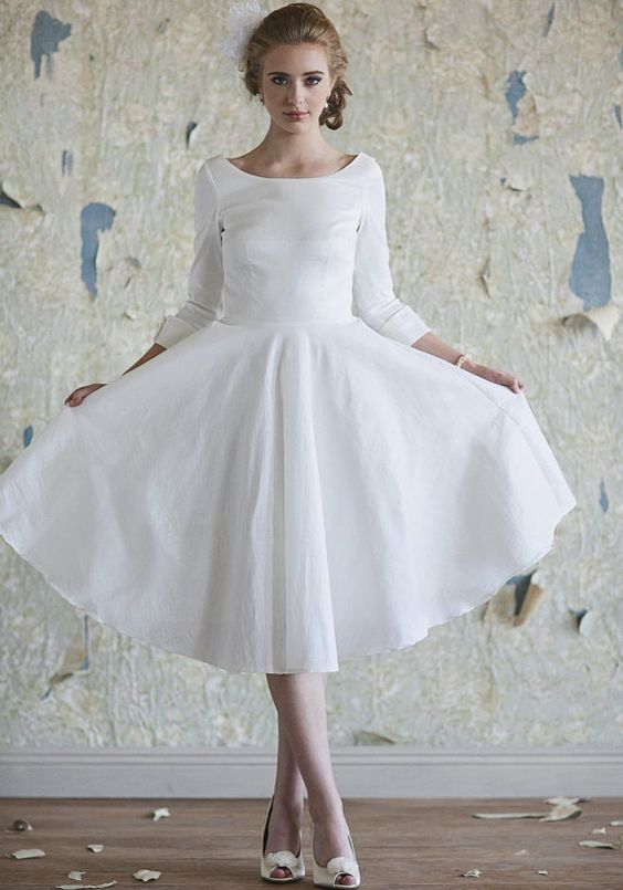 vintage informal wedding dress