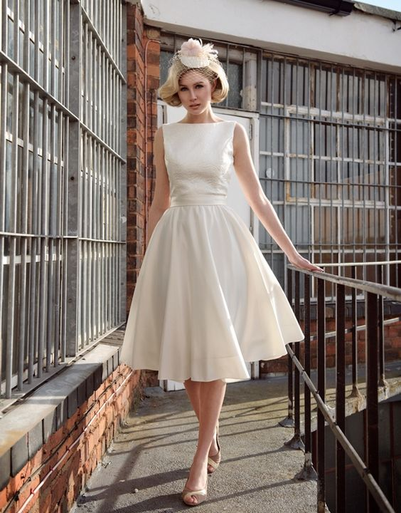 outdoor short wedding dress