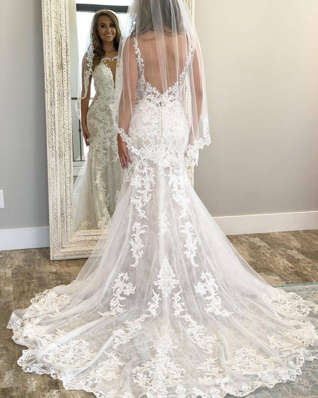 sexy low back wedding dress