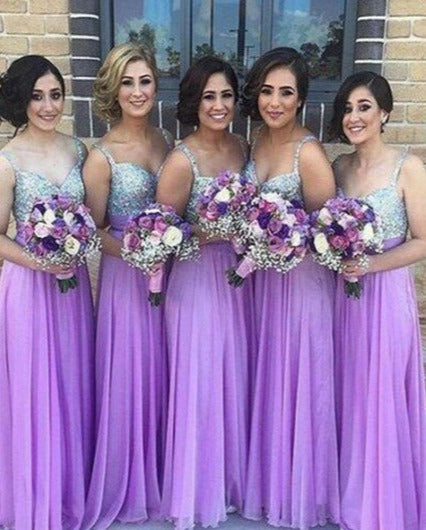 sparkle sequins bridesmaid dress