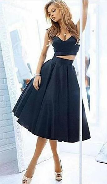 two piece prom dress
