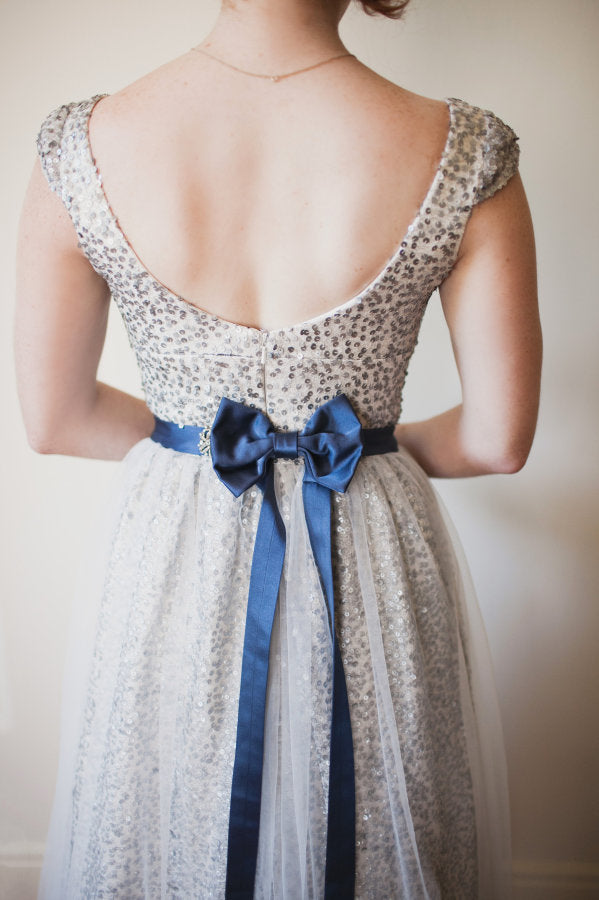 sequins wedding dress