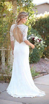 half sleeve wedding dress