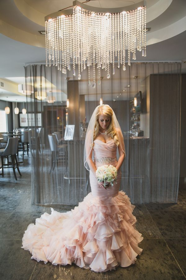 Mermaid Blush Wedding Dress