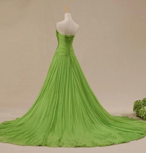 Sweetheart Green Evening Dress