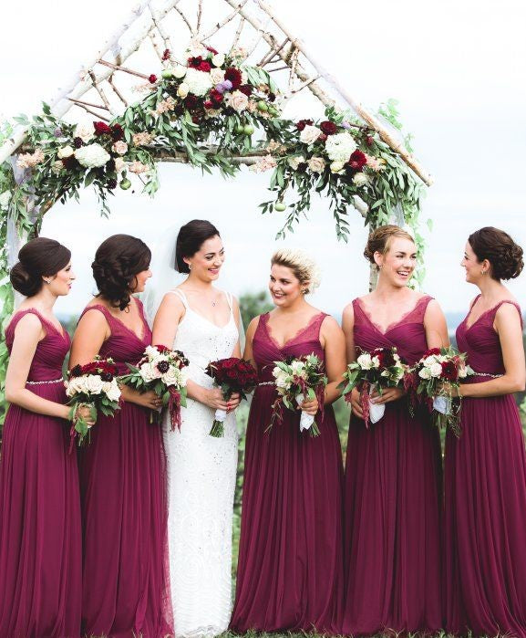 grape bridesmaid dress