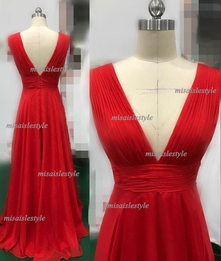 red long prom dress