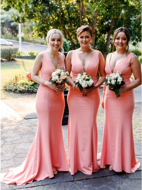 long fitted bridesmaid dress