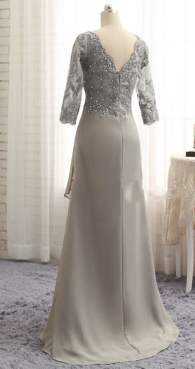silver mother dress