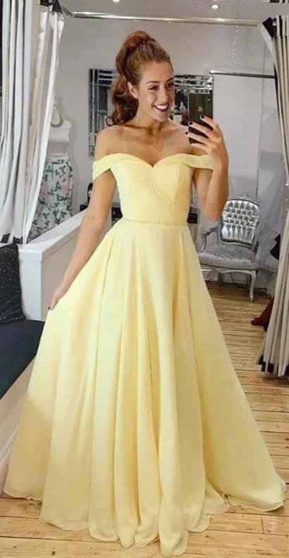yellow prom dress
