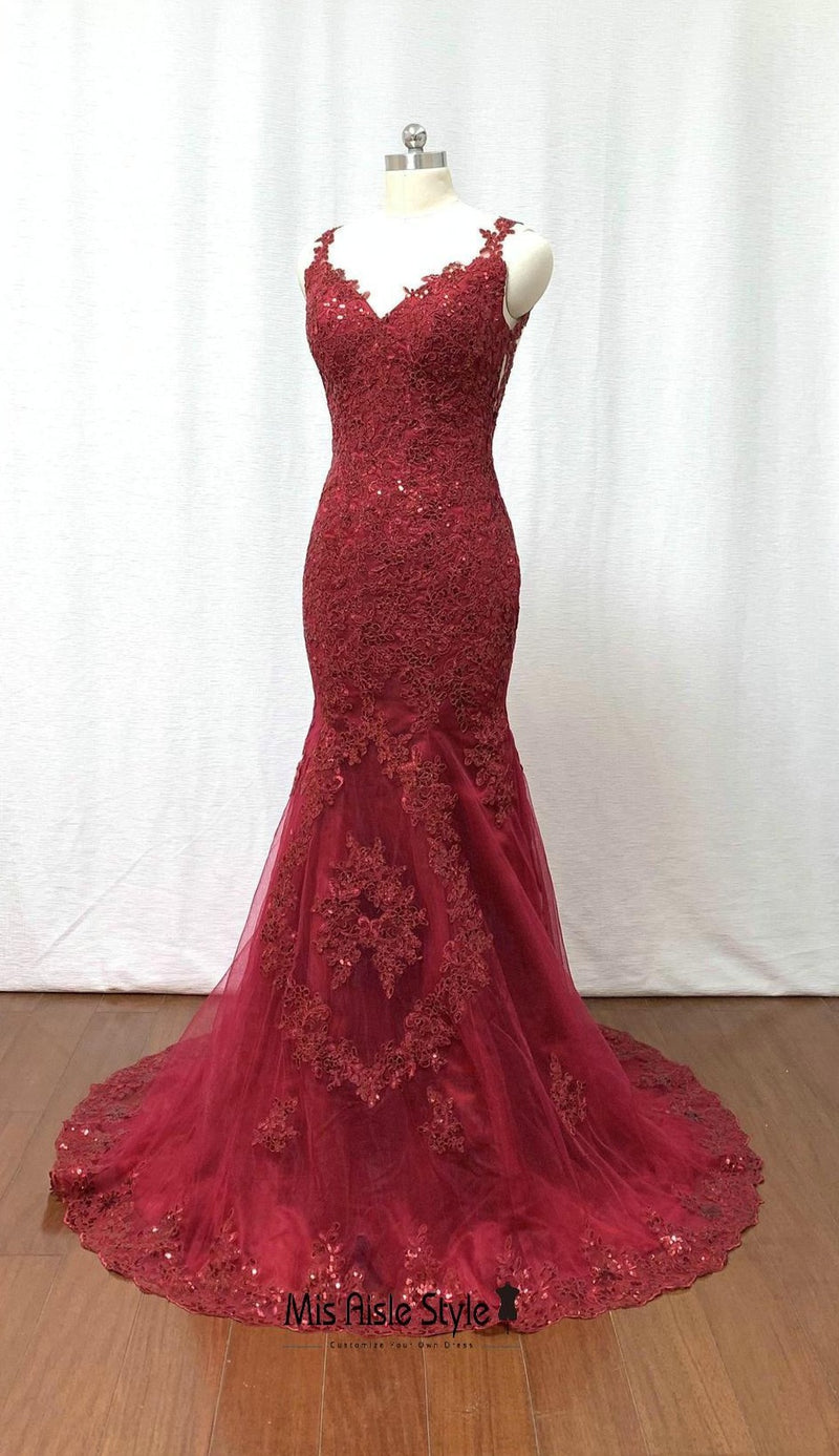 mermaid evening dress