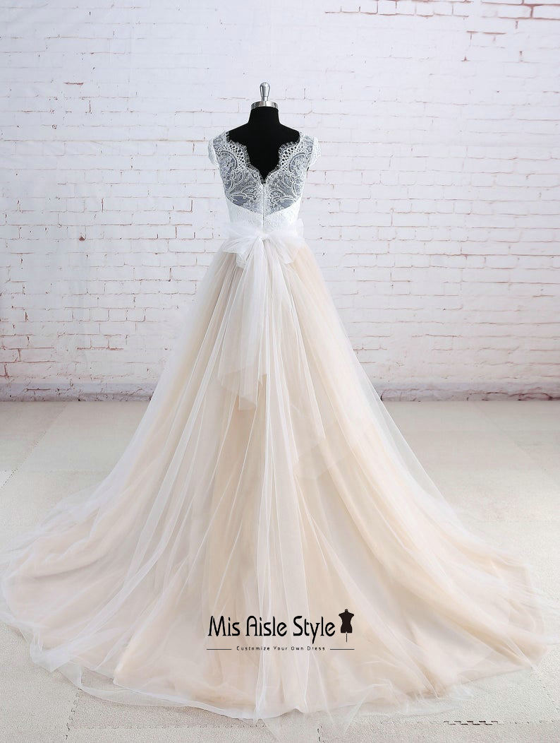 summer plus size wedding dress
