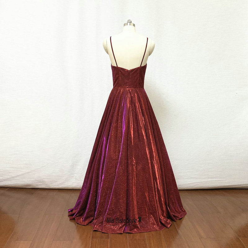 burgundy sparkle party dress