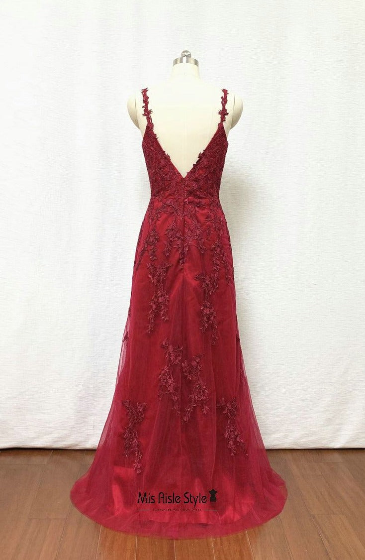 burgundy graduation dress