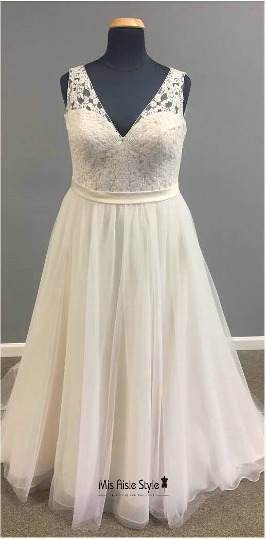 a line plus size wedding dress