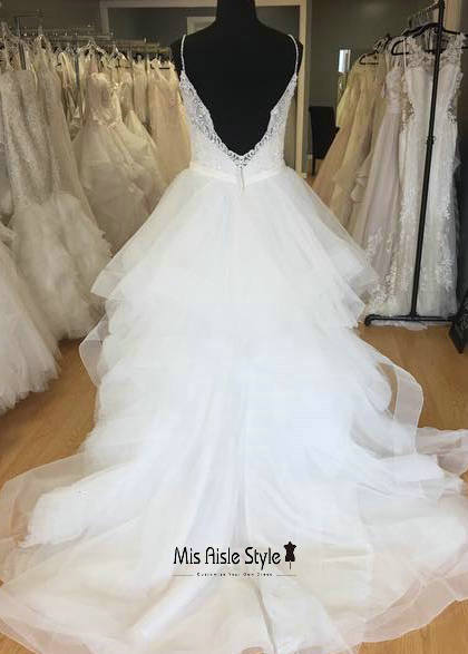 tiered skirt wedding dress