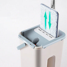 Load image into Gallery viewer, Microfiber Wood Floor Cleaning Mop with Touchless Cleaning Bucket