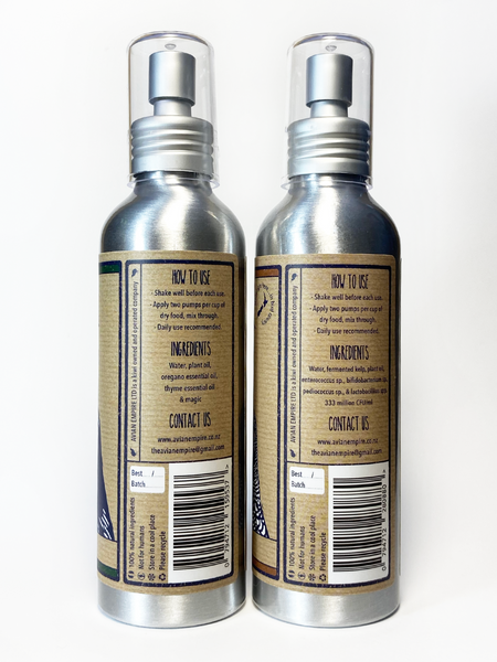 The Good Stuff - Twin Pack: Oregano & Thyme supplement 150ml & Probiotic & Kelp supplement 150ml