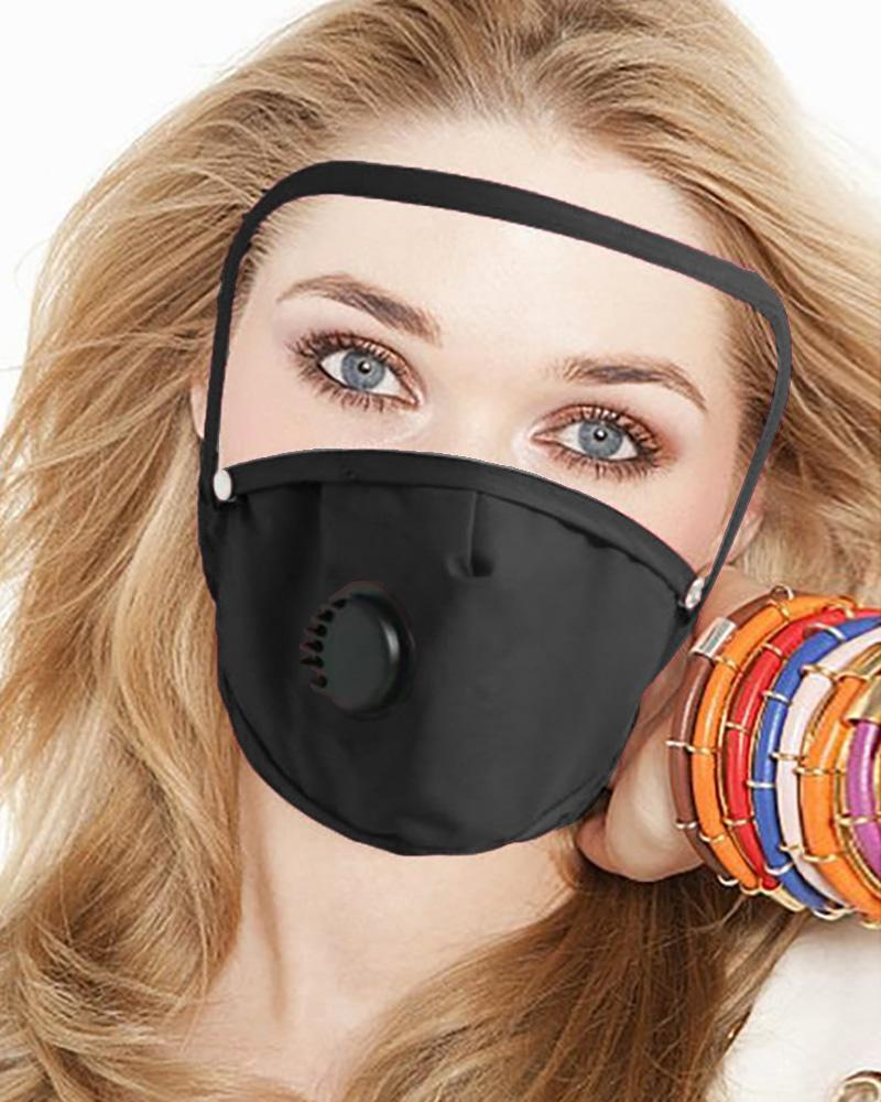 Detachable Valve Face Mask With Eyes Shield