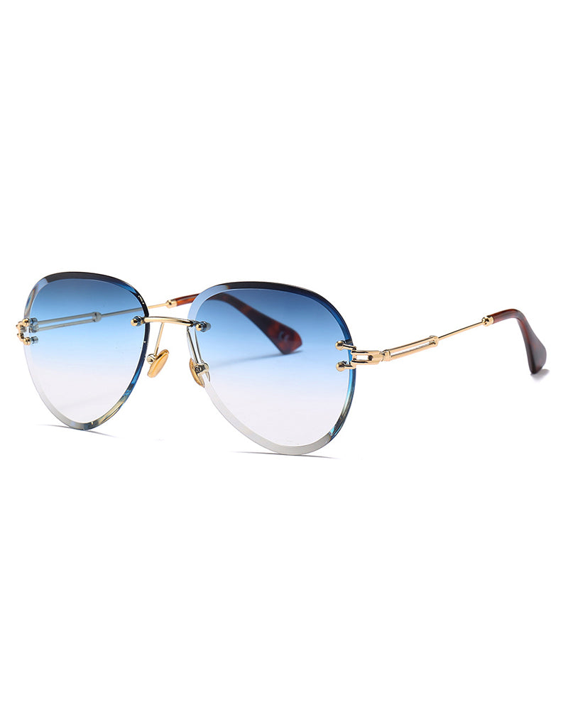 Round Flexible Metal Frame Sunglasses