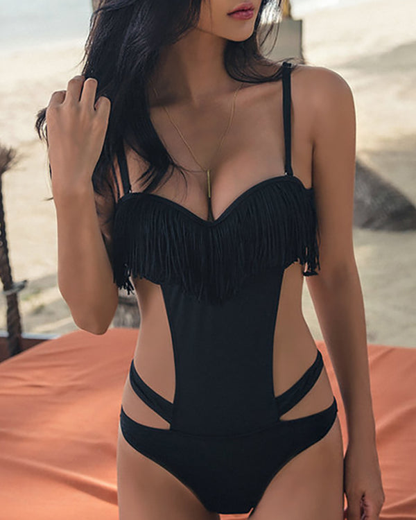 Fringe One Piece Swimwear
