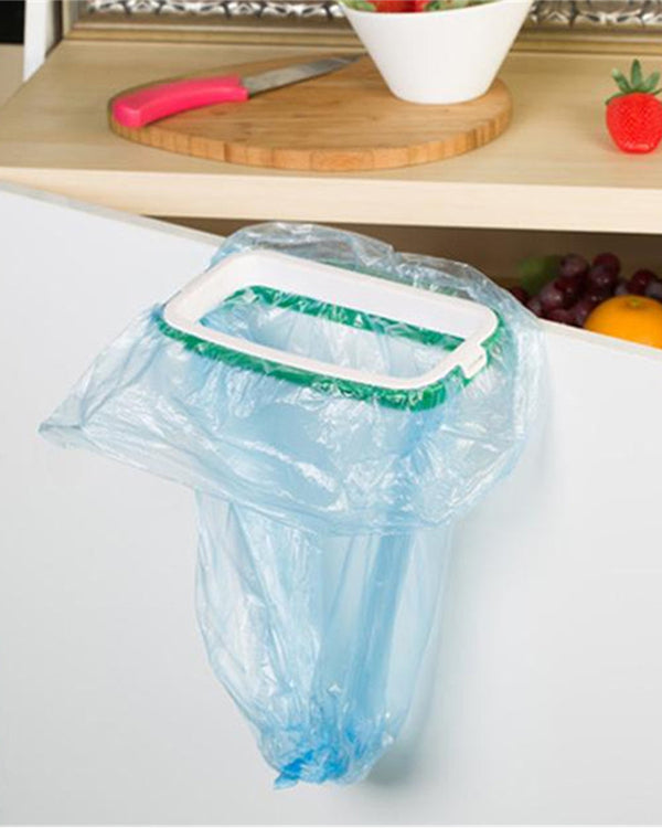 Garbage bag rack hanging kitchen cabinet cabinet door bezel bracket