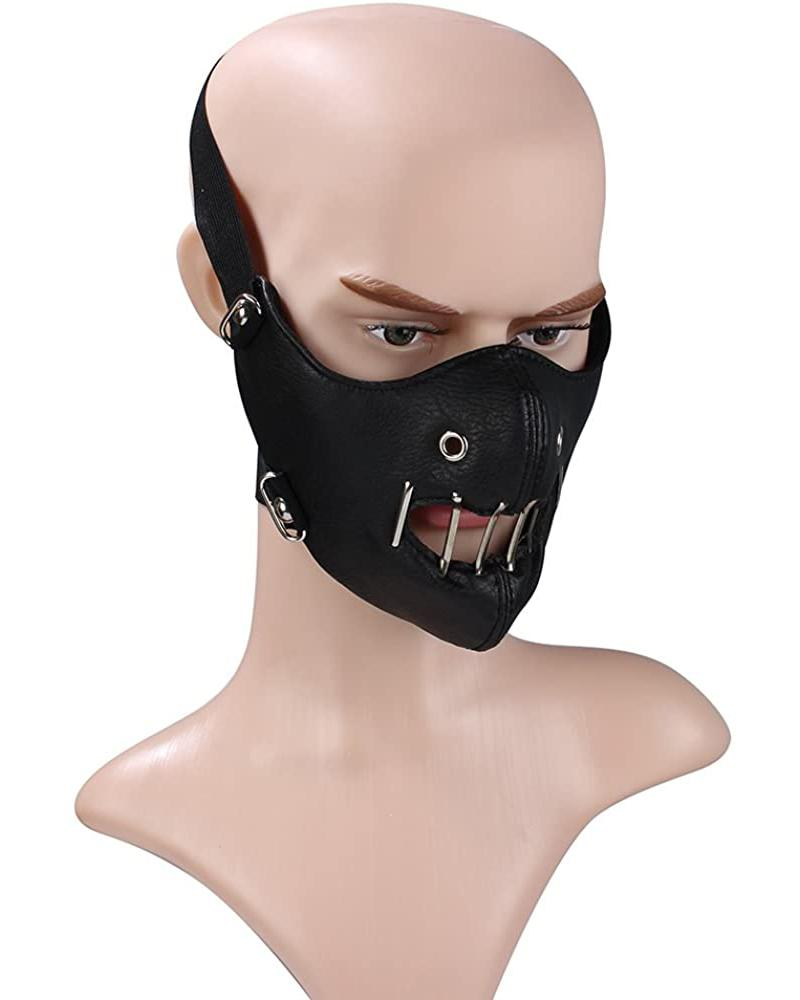 Punk Leather Breathable Motorcycle Biker Face Mask