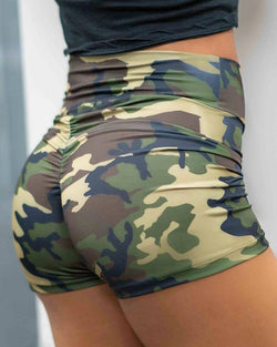 Camouflage Printed Sporty Short