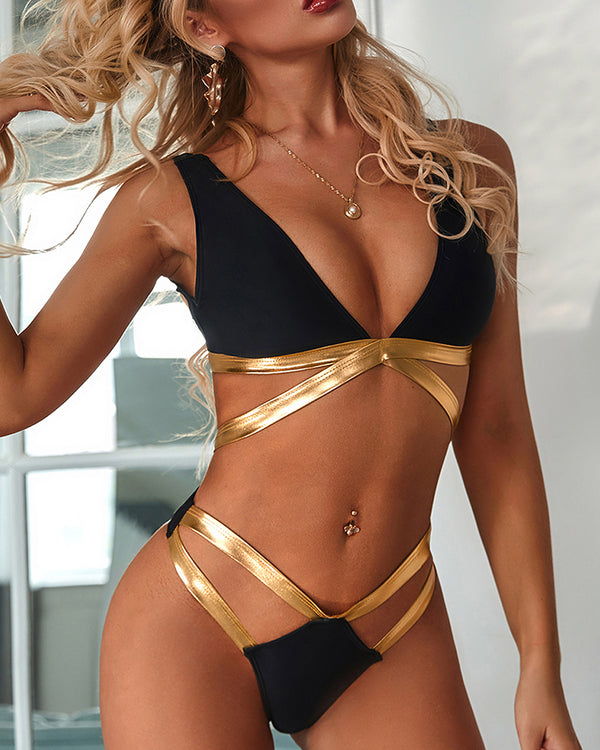 Hollow Out Bandage Bikinis Set