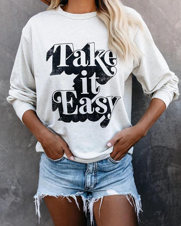 Print Casual Long Sleeve Sweatshirt