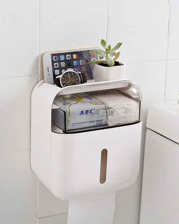 Waterproof Wall Mount Toilet Paper Holder Towel For Bathroom Tissue Paper Box