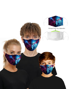 Face Print Breathable Mouth Mask Washable And Reusable